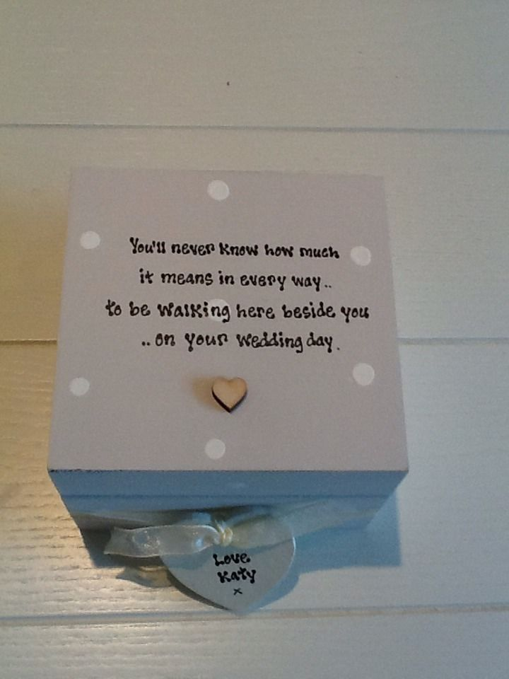 Shabby Personalised Chic Gift For Bride On Her Wedding Day From